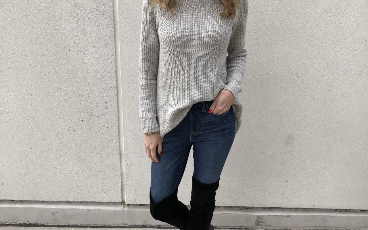 Grey Sweater + Instagram Giveaway