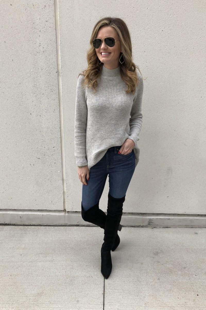 Grey Sweater + Instagram Giveaway