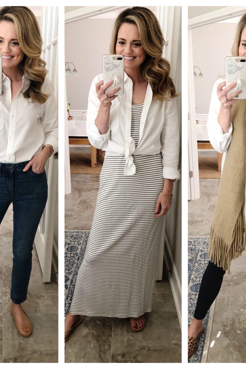 White Button Down Shirt – 7 Ways