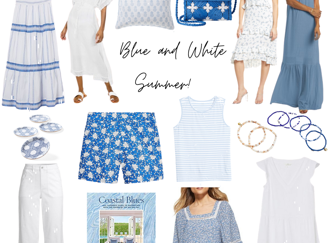 Blue and White Summer!